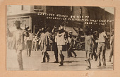 view <I>CAPTURED NEGROS ON WAY TO CONVENTION HALL - DURING TULSA RACE RIOT JUNE 1ST 1921</I> digital asset number 1