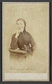 view Carte-de-visite portrait of Margaret Alsop digital asset number 1