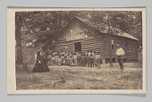 view Carte-de-visite of a Freedmen's School with students and teachers digital asset number 1