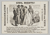 view <I>Civil Rights! Miscegenation Allowed by Congress, Despite the Veto of the President</I> digital asset number 1