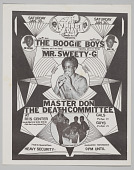 "view Flier for ""The Boogie Boys, Mr. Sweety-G, Master Don, and The Death Committee"" digital asset number 1"