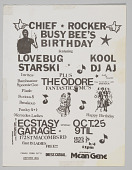 "view Flier for ""Chief Rocker Busy Bee's Birthday"" digital asset number 1"
