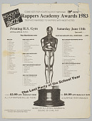 "view Flier/ballot for the ""Rappers Academy Awards 1983"" digital asset number 1"