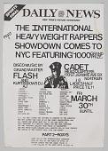 "view Flier for ""The International Heavyweight Rappers Showdown Part 1"" digital asset number 1"