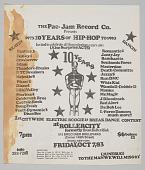 "view Flier for ""10 Years of Hip Hop 1973-1983"" designed by Van Silk digital asset number 1"