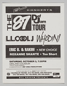 view Flier for the 87 Def Jam Tour at the Oakland Coliseum digital asset number 1