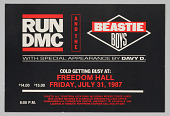 view Flier for Run DMC and the Beastie Boys at Freedom Hall in Louisville digital asset number 1