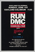 view Flier for Run DMC Raising Hell Tour at the Oakland Coliseum digital asset number 1