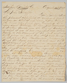 view Letter written by Union soldier John Stagenwalt recounting New Orleans Massacre digital asset number 1