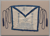 view Masonic apron used by Leroy Buster Gilliard digital asset number 1