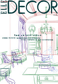 view Digital process sketch by Rachelle A. Baker for the cover of Elle Decor magazine digital asset number 1