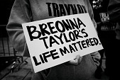 view <I>The People's Uprising, Justice for Breonna Taylor, protesting the decision by the Kentucky grand jury to indict former officers in connection to the shooting death of Breonna Taylor, Atlanta, GA.</I> digital asset number 1