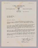 view Letter from Carl Fischer Inc. to Hall Johnson regarding Johnson's contract digital asset number 1