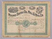 view Stock certificate for the Mound Bayou Oil Mill and Manufacturing Company digital asset number 1