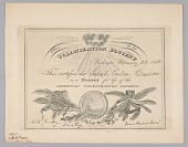 view Membership certificate to the American Colonization Society digital asset number 1
