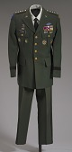 view US Army green service uniform jacket and service medals worn by Colin L. Powell digital asset number 1