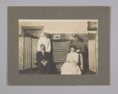 view Photograph of theatre production with blackface actors and Oliver Howard Horner digital asset number 1