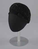 view Black beret with beaded details from Mae's Millinery Shop digital asset number 1