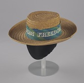 view Straw hat worn during the 1966 March Against Fear digital asset number 1