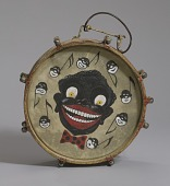 view Drum hand-painted depicting caricatures of nine male faces digital asset number 1