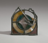 view Stained glass rosette shard from the 16th Street Baptist Church digital asset number 1