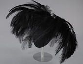 view Black feathered fascinator from Mae's Millinery Shop digital asset number 1