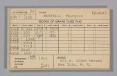 view Dues card for Thurgood Marshall's Alpha Phi Alpha Fraternity membership digital asset number 1