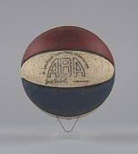 view Basketball used in American Basketball Association games digital asset number 1