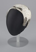 view Ivory cap with sequins and beading from Mae's Millinery Shop digital asset number 1