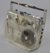view Reel-to-reel tape recorder and reels used by sound engineer Russell Williams II digital asset number 1