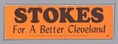 view Bumper sticker endorsing Carl Stokes for Mayor of Cleveland digital asset number 1