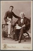 view Cabinet card of Frederick Douglass with his grandson, Joseph Douglass digital asset number 1