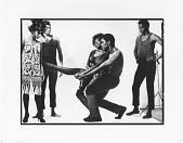 "view Alvin Ailey rehearses Joan Peters in ""Blues Suite"" digital asset: ""Blue Suites"": Loretta Abbott"
