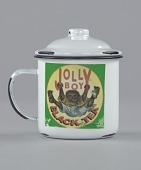 """view Mug and lid for """"Jolly Boy Black Tea"""" depicting a """"picaninny"""" boy digital asset number 1"""