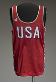 view Jersey worn by Carl Lewis at the 1984 Summer Olympics digital asset number 1