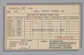 view Dues card for Martin Luther King Jr.'s Alpha Phi Alpha Fraternity membership digital asset number 1
