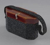 view Black beaded box bag from Mae's Millinery Shop digital asset number 1