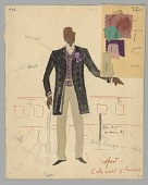 view Watercolor costume sketch by Lemuel Ayers for the musical, St. Louis Woman digital asset number 1