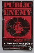 view Flier for the Public Enemy album There's a Poison Goin On digital asset number 1