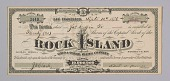 view Stock certificate for 20 shares in Rock Island Gold & Silver Mining Co. digital asset number 1