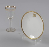 view Glass stemware with gold decoration from Mae's Millinery Shop digital asset number 1