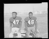 view Outdoor Photo of Two Boys Sitting on a Bench, Vocational School Football digital asset number 1