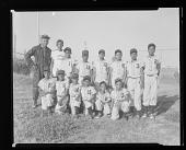 view Outdoor Group Shot of Children Wearing Baseball Uniforms, Little League digital asset number 1