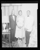 view Indoor Portrait of Dr. Noble R. Frisby with an unidentified man and woman digital asset number 1