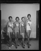 view Studio Portrait of Four Women Standing, Beauty Contest Winners digital asset number 1