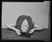 view Studio Portrait of a Woman Posing with her Head on a Table, Margaret Gillmore digital asset number 1