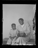 view Studio Portrait of a Mother and Child Sitting digital asset number 1
