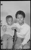view Studio Portrait of a Mother and Child Sitting, Diptych digital asset number 1