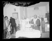 view Wedding Portrait of the Bride and Groom with the Wedding Cake digital asset number 1