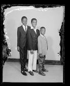 view Studio Portrait of Three Boys Standing digital asset number 1